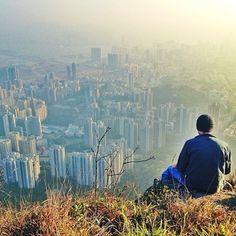 From up top of Lion Rock, the New Territories, Hong Kong, 2013, photograph by Tai Mo Shan.