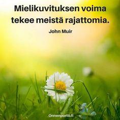 Mielikuvituksen #voima tekee meistä rajattomia. John Muir #mielikuvitus #aforismi #rajaton