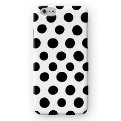 Irregular Black Dots on White iPhone Cover by Madotta | This classic marble case is available for all iPhones and  Samsung Galaxy S devices. Exclusive Design. Printed in the UK. Worldwide shipping available. Stylish iPhone 7 Cases and Covers #madotta View more at https://madotta.com/collections/all/?utm_term=caption+link&utm_medium=Social&utm_source=Pinterest&utm_campaign=IG+to+Pinterest+Auto