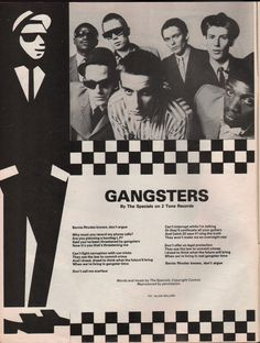 Gangsters from Smash Hits.