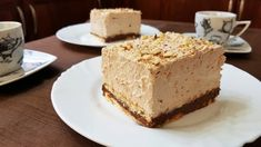 Sweet with hazelnut cookies and cream praline! Fridge Cake, Hazelnut Cookies, Cookies And Cream, How Sweet Eats, Greek Recipes, Vanilla Cake, Cheesecake, Food And Drink, Favorite Recipes