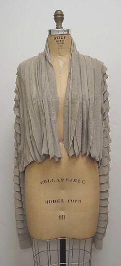 Sweater  Miyake Design Studio  (Japanese)  Designer: Issey Miyake (Japanese, born 1938) Date: ca. 1984 Culture: Japanese Medium: silk