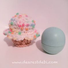 Have some bernat dipity dots yarn? It's the perfect yarn for a Lip Balm Crochet Cupcake. Hook one up and hide your lip balm in it. http://dearestdebi.com/lip-balm-crochet-cupcake
