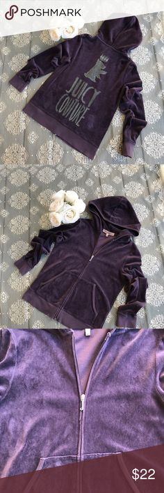 Juicy Couture zipper jacket like new!!! Size M Excellent Condition Juicy Couture Jackets & Coats