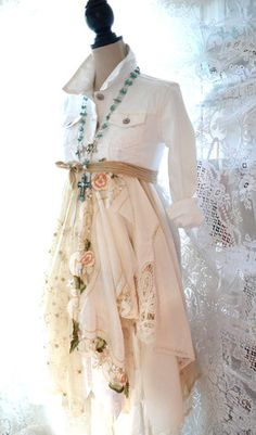 Romantic white long jacket, Bridal duster by true rebel clothing – True Rebel Clothing
