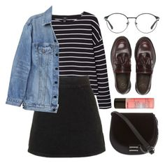 """""""Untitled #698"""" by soym ❤ liked on Polyvore featuring MANGO, Topshop, Y/Project, 3.1 Phillip Lim, Dr. Martens, Skinnydip and Forever 21"""
