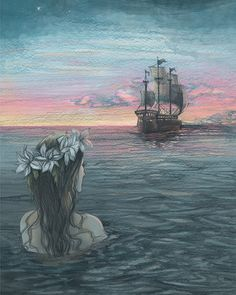 One of my recent illustrations: The Little Mermaid by Biljana Kroll, via Behance
