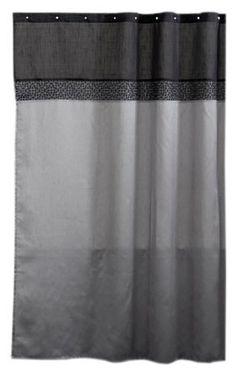 Lush Decor Geometrica Shower Curtain Black Silver By