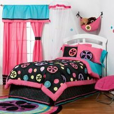 Magical Michayla Twin/Full Bedding Set - Size: Twin by Ababy. $148.33. Includes: Twin Size: Comforter, Bed Skirt, Flanged Sham . Fabric Content: Cotton and Minky. Machine Washable. Full Size: Comforter, Bed Skirt, 2 Flanged Shams. EnliveningOur Magical Michayla Twin/Full Bedding Collection uses the most bold and refreshing colors for a striking and youthful effect Kaleidoscope patterns dance across a bold black background, in hues of pink, blue, green, yellow, orange, and purp...