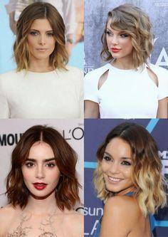Simple Everyday Hairstyle for Short Hair: Women Haircuts | Bob, Long Bob = Lob, Wave Bob = Wob Corte de Cabelo Curto 2015 Ashley Greene, Taylor Swift, Vanessa