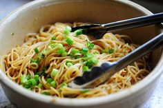 Sesame Noodles ... we also add shredded carrots and thinly sliced mini red and yellow peppers and edamame