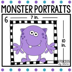 Monster Portraits - students use the measurements given to determine the perimeter of each portrait.