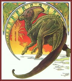 Cover art from The Dinosaurs, illustrated by William Stout. The coolest book I own!