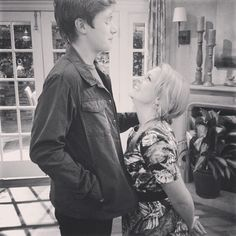 Nick Robinson and Melissa Joan Hart are so cute on the set of Melissa & Joey.