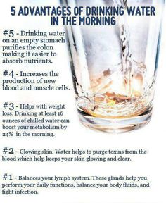 Water...keep drinking!