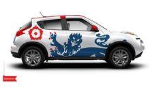 El poderoso Nissan Juke de Inglaterra con motor turbo cargado y un original diseño de Autocom inspirado en uno de los equipos favoritos del Mundial 2014.  #ViveElMundial