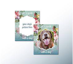 Dog print, printable dog quote, Dog lover gift, home decor, printable quotes, wall art, your dog's picture, dog lovers, printable art, home by ChloeDrapeauArt on Etsy
