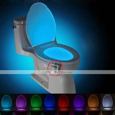 BRELONG 1 pc 8-color Human Motion Sensor PIR Toilet Night Light 2020 - US $6.49 Toilet Bowl Light, Novelty Lighting, Washroom, Child Safety, Gaming Chair, Night Light, Color Change, Bathroom Lighting, Furniture