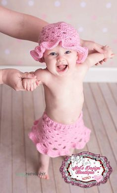 Stacked Shells Baby Skirt free crochet pattern - The Lavender Chair