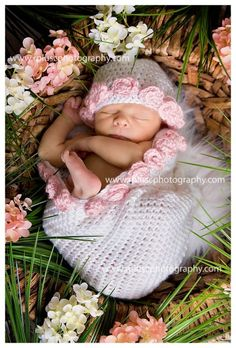 Little Miss Frilly crochet newborn rose cocoon by littlemissfrilly, $35.00