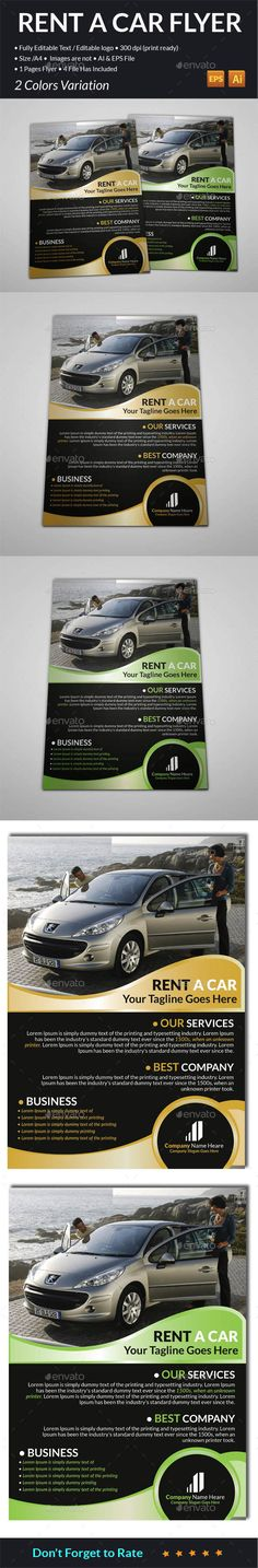 Exclusive Car Rental Flyer Template by @Graphicsauthor Templates - car flyer template