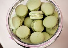 Love macaroons in unique colors. Sage green!