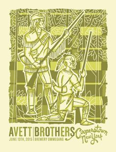 "Poster for tonight's #SoldOut show @BreweryOmmegang by @Furturtle is based on ""The Leatherstocking Tales."""