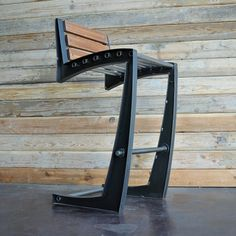 Love the design. Sleek, curvy, still industrial. Would use more wood for back and seat.