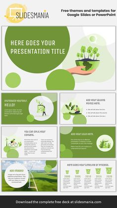 Carlina Free Environmental Template for Google Slides or PowerPoint.