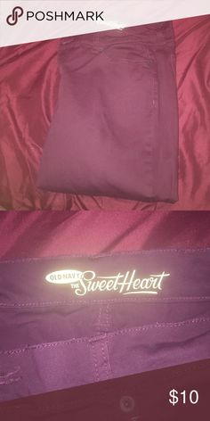 Burgundy Old Navy jeans Never warn, basically new burgundy skinny leg jeans. Great quality, no damages   Fast shipper: same or next day shipping guaranteed. Willing to do price adjustments! Old Navy Jeans Skinny