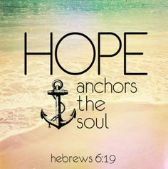 Hope anchor the soul Hebrews 6:19