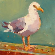 Nancy Standlee - Seagull, Daily Paintworks Challenge and Harold Frontz Oil Workshop by Texas Painter Nancy Standlee