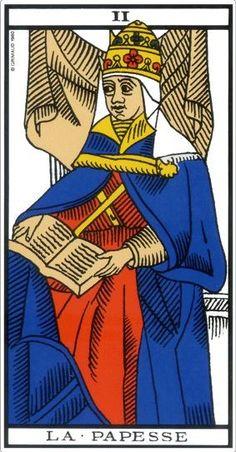 2f35a56eb90355 La Papesse dans le tarot de Marseille. Tarot Divinatoire Gratuit,  Cartomancie, Carte Tarot