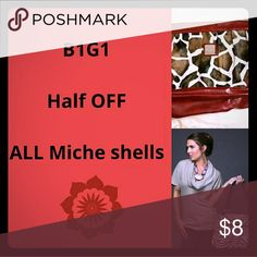 B1G1 half off Miche Shells B1G1 half price for any combination of Miche shells in my closet! Message and I will create bundle ! Miche Bags Shoulder Bags