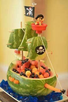 Pirate fruit boat