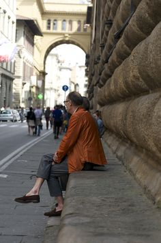 Florence, Italy ~ don't you just love his no sock look