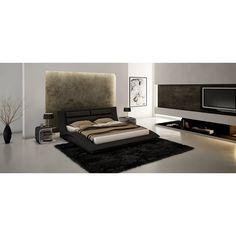 J&M Furniture Wave Bedroom Set in Black #Bedroom #BedroomSet