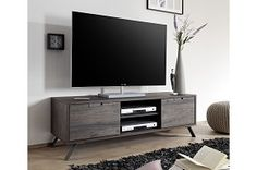 Contemporary Monaco 2 Door Retro TV Cabinet in Wenge Wood Effect Finish Modern Tv Cabinet, Modern Tv Units, Wenge Wood, Muebles Living, Diy Entertainment Center, Deco Design, Tv Cabinets, Contemporary Furniture, The Unit