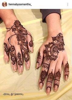 Henna design by Finger Henna Designs, Eid Mehndi Designs, Mehndi Designs For Beginners, Modern Mehndi Designs, Mehndi Design Pictures, Mehndi Designs For Fingers, Beautiful Mehndi Design, Latest Mehndi Designs, Henna Tattoo Designs