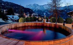 Apres ski in Verbier, Switzerland.