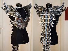cosplay Skyrim Dovahkiin armor Worbla deadric (Do this with the lirripipes or the backs of liripipes.