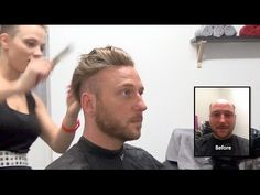 Hair Replacement FITTING VIDEO (Dan) – Hair loss, Baldness, Hair Wigs, H...