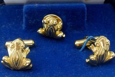Vintage Frog Set Cuff Links & Tie Tack Mimi di N Men's Vintage Cufflinks Jewelry | Jewelry & Watches, Vintage & Antique Jewelry, Costume | eBay!