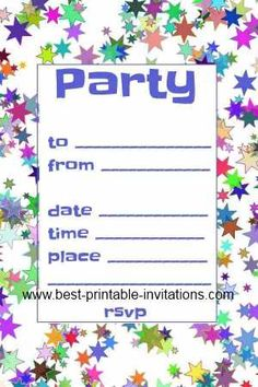 Free Printable 1st Birthday Invitations for Boys and Girls ...