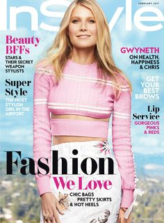 Gwyneth Paltrow in Fendi Spring 2017 for InStyle Magazine (February 2017)