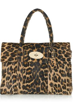 Mulberry leopard tote