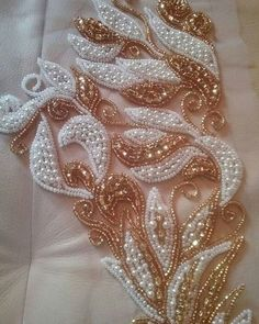 1 million+ Stunning Free Images to Use Anywhere Pearl Embroidery, Hand Embroidery Dress, Bead Embroidery Patterns, Tambour Embroidery, Embroidery On Clothes, Couture Embroidery, Silk Ribbon Embroidery, Hand Embroidery Designs, Embroidery Stitches