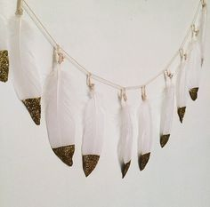 Gold Dipped Feather Garland