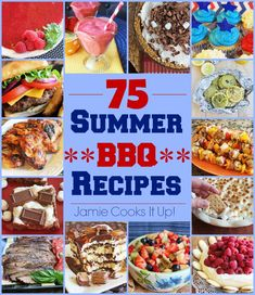 75 Summer BBQ Recipes from Jamie Cooks It Up! From a fantastic frozen lemonade to great recipes for your grill, fantastic sides and seasonal desserts, this post has you covered! Pork Ribs Grilled, Grilled Chicken Tacos, Bbq Pork, Barbecue Side Dishes, Barbecue Sides, Grilling Recipes, Cooking Recipes, Barbecue Recipes, Cooking Grill