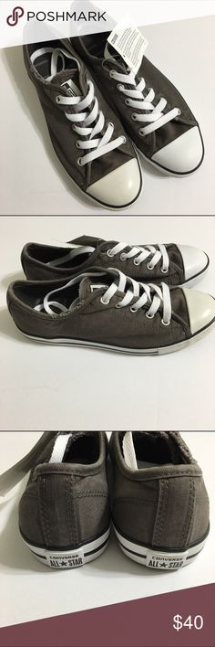 NWT Converse Women Shoes size 6 NWT. No box included- color is a dark grey/taupe. Converse Shoes Sneakers